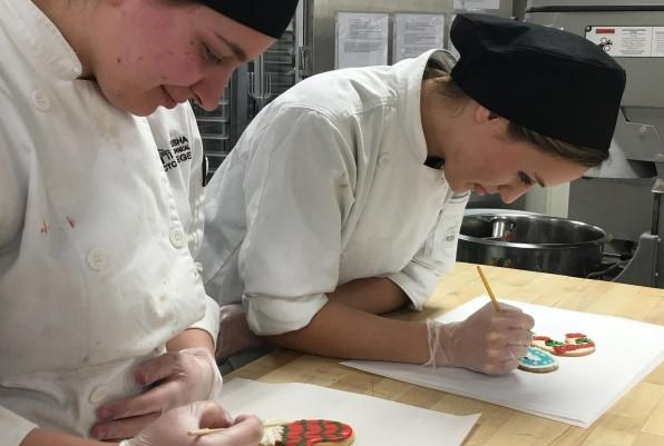 Baking and Pastry Production students decorated 400 sugar cookies, sold to benefit the Ronald McDonald House Charities of Eastern Wisconsin.