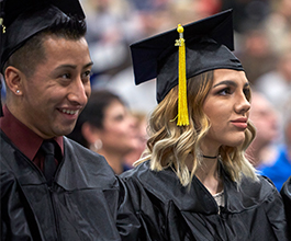 Students graduating college