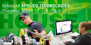 Interested in a hands-on career? Check out the School of Applied Technologies open house and discover a career path right for you!