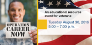 Join us, and meet face to face with WCTC staff, veterans service organization representatives and veteran-friendly employers, and discover academic programs designed for high-demand career paths!