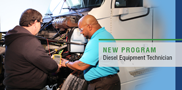 The need for technicians to work on heavy-duty vehicles is on the rise, and WCTC's new Diesel Equipment Technology program, starting in fall 2017, will provide you with the skills needed for a rewarding job in diesel servicing and repair.