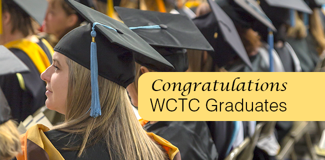 Way to go, spring graduates! Your hard work and dedication have paid off, and the faculty and staff of Waukesha County Technical College wish you much success in your career!