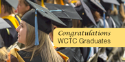 Congratulations, 2017 graduates! WCTC's winter commencement is Wednesday, Dec. 13, at 7 p.m. in the Service Building. The ceremony celebrates students' hard work and dedication to their education. Way to go, students!