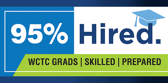 95% of WCTC graduates have been hired.