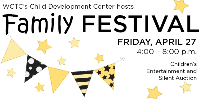 Bring your family and join us for an evening of entertainment – games, inflatables, a magician, photo booth and more! This fun-filled event will help raise money for the WCTC Child Development Center.