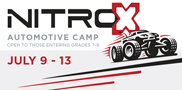 A fun, action-packed summer camp for kids entering grades 7-9. Students will build and race Nitro-X remote controlled vehicles while learning about the automotive field. Space is limited so sign-up now!