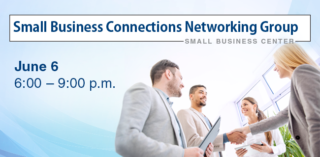 "Attention small business owners and entrepreneurs: Join us for our next Small Business Connections Networking Group ""Go Brief or Go Deep"" The event will be held in the RTA Center."