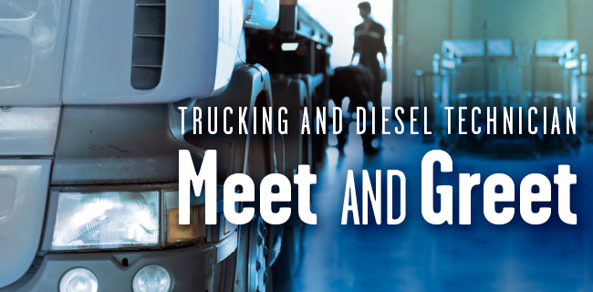 Join us on Monday, October 1st from 3-6 p.m. to network with truck driving and diesel mechanic employers. Spend quality, one-on-one time with area companies looking for new talent. These are high-demand fields – come check it out!